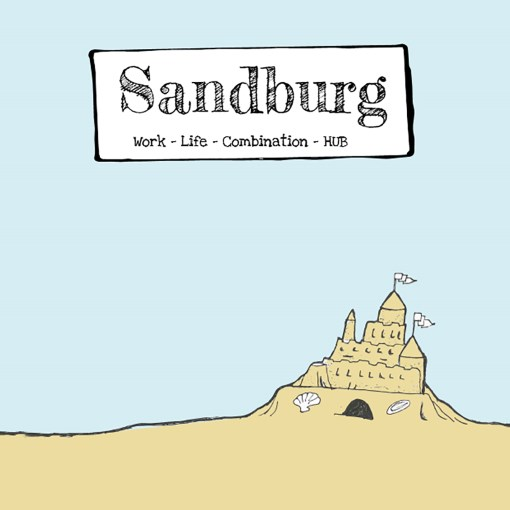 illustration of a sandcastle